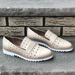 14th & Union Nude Perforated Leather Loafer